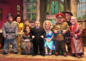 See How They Run Cast photo on stage
